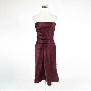 Maroon TADASHI strapless dress 6